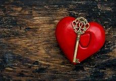 Décoration rouge de jour de valentines de touche fonctions étendues de coeur Image libre de droits