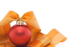 Décoration rouge et orange de Noël photographie stock libre de droits