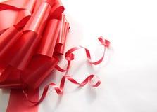 Décoration rouge lumineuse Photos libres de droits