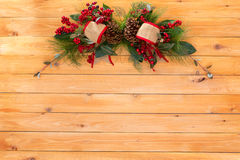 Décoration rustique simple élégante de Noël Images stock