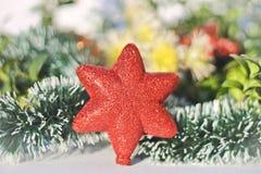 Décoration scintillante de coeur pour la nouvelle année et le Noël Photographie stock