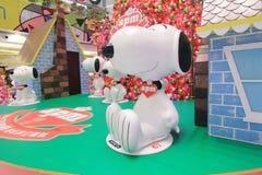 Décoration Snoopy de Noël d'APM en Hong Kong Photographie stock