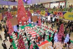 Décoration Snoopy de Noël d'APM en Hong Kong Photo stock