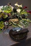 Décoration sur la table de Noël Images libres de droits
