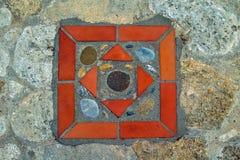 Décoration sur le plancher en pierre 1 Images stock
