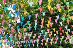 Décoration thaïlandaise de drapeau de festival de style Photo stock