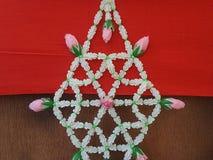 Décoration thaïlandaise traditionnelle de fleur de tenture Photo libre de droits