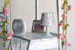 Décorations à la maison argentées Images stock