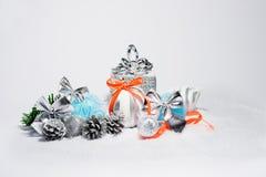 Décorations à la mode de Noël Photos stock