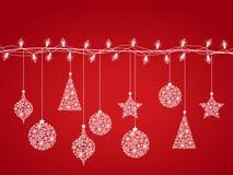 Décorations 2 de Noël illustration stock