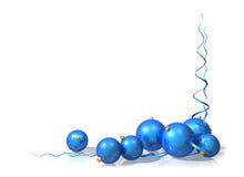 Décorations bleues de Noël Photo stock