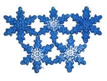Décorations bleues de Noël en composition images stock