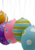 Décorations brillamment peintes d'oeuf de pâques Photos stock
