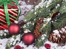 Décorations colorées de Noël Photos stock
