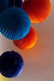 Décorations colorées de partie Photo libre de droits