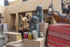 Décorations conçues dans le restaurant arabe Photographie stock libre de droits