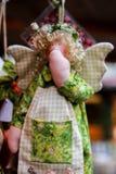 Décorations d'ange d'arbre de Noël Image libre de droits