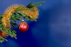 Décorations d'arbre de Neuf-An Image stock