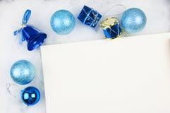 Décorations d'arbre de Noël Photo stock