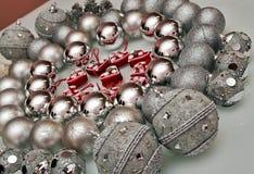 Décorations d'arbre de Noël Photos stock