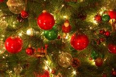 Décorations d'arbre de Noël photographie stock libre de droits