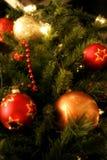 Décorations d'arbre de Noël Image libre de droits