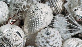 Décorations d'arbre de Noël blanc photo libre de droits