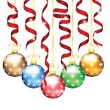 Décorations d'arbre de Noël et de nouvelle année Photos libres de droits