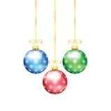 Décorations d'arbre de Noël et de nouvelle année Images libres de droits