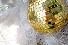 Décorations d'or de Noël Photo libre de droits