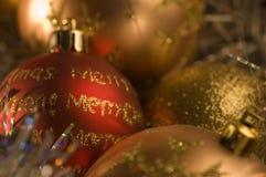 Décorations de babiole de Noël Images libres de droits