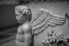 Décorations de bas-relief de pierre d'Angel Carved Photo libre de droits