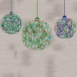 Décorations de boules de Noël Illustration de vecteur Images stock
