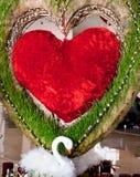 Décorations de coeur et de cygne - amour Photographie stock