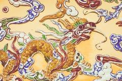 Décorations de dragon Royal Palace impérial de dynastie de Nguyen dans H image libre de droits