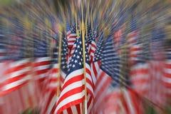 Décorations de drapeau américain des vacances de Memorial Day Photographie stock libre de droits