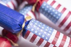Décorations de drapeau américain pour le 4ème juillet Image libre de droits