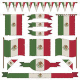 Décorations de drapeau mexicain Photos stock