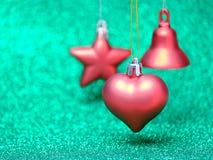 Décorations de fête de Noël sur le fond coloré Photos libres de droits