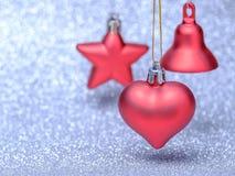Décorations de fête de Noël sur le fond coloré Photos stock