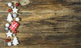 Décorations de fond de Joyeux Noël Photo stock