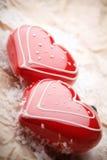 Décorations de forme de coeur Photographie stock
