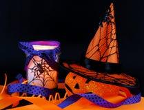 Décorations de Halloween Photographie stock libre de droits