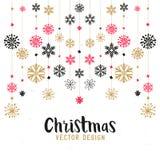 Décorations de Joyeux Noël illustration de vecteur