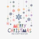 Décorations de Joyeux Noël illustration stock