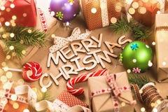 Décorations de Joyeux Noël Image libre de droits