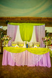 Décorations de mariage Photographie stock libre de droits