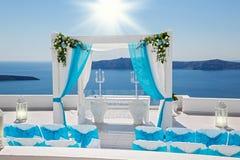 Décorations de mariage avec des roses Images stock