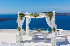 Décorations de mariage avec des roses Photographie stock