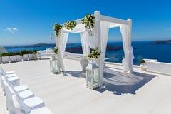 Décorations de mariage avec des roses Image libre de droits